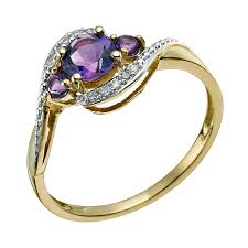 rings with amethyst images Amethyst yellow gold rings h samuel