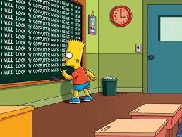 Bart Simpson Meme - bart simpson on security awareness carmelowalsh com