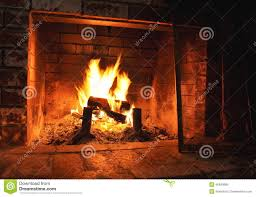 indoor fireplace with cozy fire stock photo image 46940860