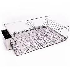 Kitchen Sink Dish Rack Home Basics 3 Stainless Steel Chrome Kitchen Sink Dish