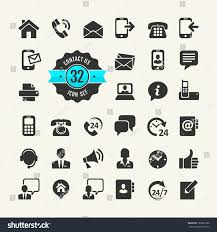 Contact Us Web Icon Set Contact Us Stock Vector 165022388 Shutterstock