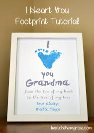 i heart you footprint tutorial footprints reuse and keepsakes
