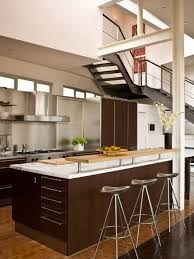 small modern kitchen with island