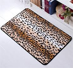Cheetah Print Bathroom by Amazon Com Amariver Coral Velvet Cheetah Rug Animal Print