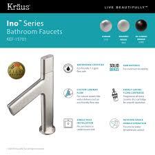 kraus ino basin single handle bathroom faucet with custom laminar