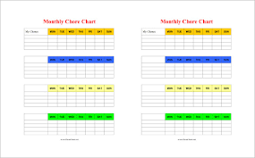 chore list template chore chart template 6 free pdf word documents free