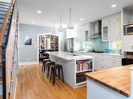 architecture archway in contemporary kitchen with engineered wood
