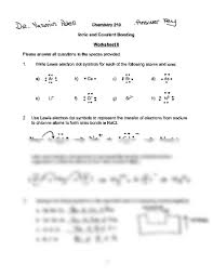 chapter 8 worksheet key chemistry 210 with patell at kansas