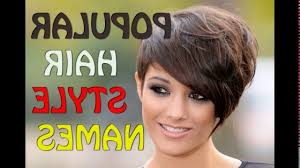short haircut names and pictures youtube