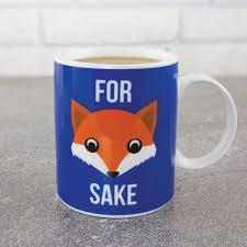 fox mug for fox sake mug ceramic novelty mug with cartoon fox face menkind