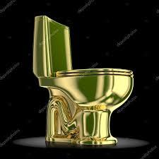 golden toilet on a black background u2014 stock photo wir0man