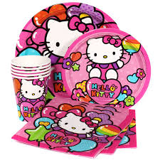 Hello Kitty Party Decorations Hello Kitty Party Supplies Package For 8 At Dollar Carousel
