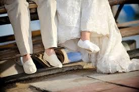 espadrille mariage les moineaux de la mariée marcher sur la corde