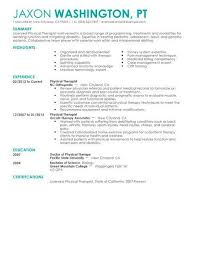 physical therapist assistant resume examples physical therapist