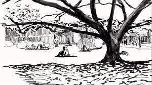 igor kryzhanovskyi sketches a park scene in procreate youtube