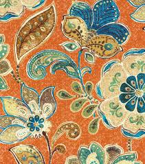 upholstery fabric iman javanese garden henna joann