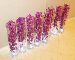 Orchid Centerpieces Fiftyflowers Review Gorgeous Purple Mokara Orchid Centerpieces