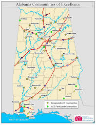 Map Of Alabama Cities Alabama Communities Of Excellence Boosting Fortunes Of Small Towns