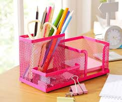 Wire Mesh Desk Accessories Metal Mesh Desk Organizer Desktop Pencil Holder Desk