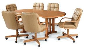 kitchen table with caster chairs dining room chairs with wheels swivel dining room chairs dining