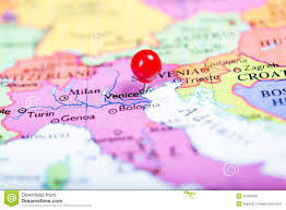 Italy On Map by Red Push Pin On Map Of Italy Stock Photo Image 47254788