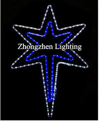 Christmas Rope Lights Blue by Blue And White Star Design Merry Christmas Rope Light Motif Buy