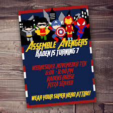 amazing avengers birthday invitation templates hd picture ideas