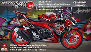 honda cbr r150 decal striping honda cbr 150 all new putih one heart 01