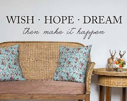 Wall Quotes For Living Room by Dream Wall Decal Etsy