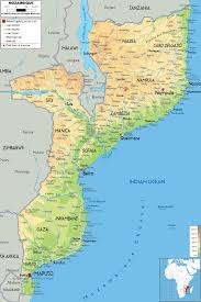 Map Of Africa Physical by Maps Of Mozambique Map Library Maps Of The World