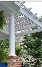 Pergola Top Ideas by I Love This Idea Lattice Top Pergola Backyard Redo Pinterest