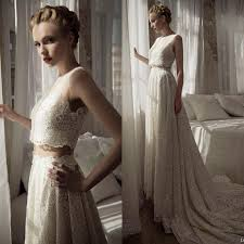 discount 2016 two pieces wedding dresses lihi hod a line floor