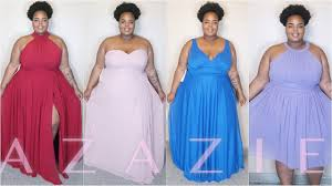 plus size formal gowns ft azazie try on youtube