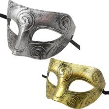 silver mardi gras mask hot fashion 1pc lovely retro men burnished antique silver gold