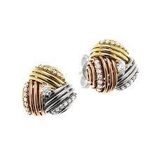 cercei de aur cercei din aur alb aur galben si aur roz cu diamante model or0535