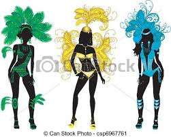 vector clip art of carnival silhouettes vector illustration for