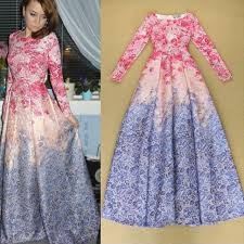 flower dress pre order blue pink vintage sleeve floral flower dress