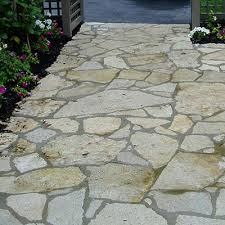 Irregular Stone Patio Ottawa Buff Flagging U0026 Steppers Rustic Lang Stone Building