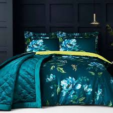 Dunelm Mill Duvet Covers Charm Floral Teal Reversible Duvet Cover And Pillowcase Set Dunelm