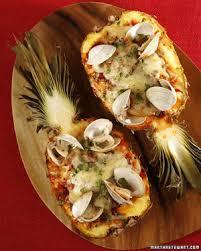 Seafood Recipes For Entertaining Martha by Roasted Seafood Stuffed Pineapple Recipe U0026 Video Martha Stewart