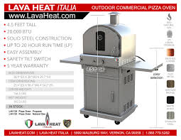 Lava Heat 2g by Lhi 123 Pizza Oven Natural Gas