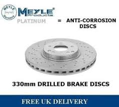mercedes c class brake discs for mercedes c class w203 front drilled brake discs 330mm c class