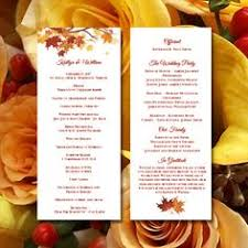 fall wedding programs fall wedding program template by paintthedaydesigns