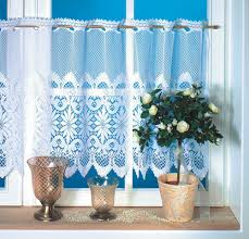 furniture blue cafe curtains with transparent curtains and potted