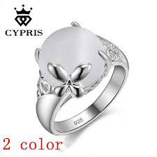 white silver rings images Price hot silver ring women men opal white stone nice engagement jpg