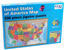 usa map jigsaw level five united states of america map puzzle 24 x 36 500 pieces 007193