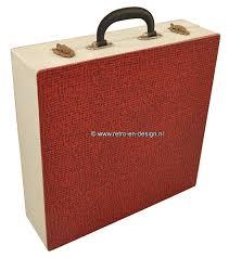 koffer design vintage vinyl schallplatten koffer in weiß rot zuletzt