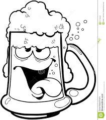 beer cartoon drunk mug of beer cartoon vector clipart stock vector image