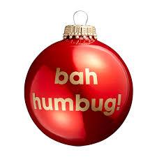 bah humbug red christmas tree bauble threelittlebears co uk