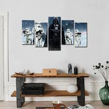 star wars darth vader painting 5 piece canvas empire prints